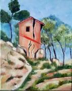 tableau maison provence cezanne : Maison Cézanne revisitée