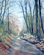 tableau paysages paysage route hiver : Février