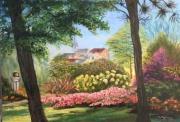 tableau paysages jardin : Bucolie