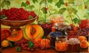 tableau nature morte ete fruits confitures : C'est l'été