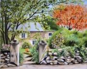 tableau paysages normandie maison : Chez Prévert