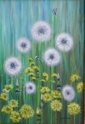 tableau fleurs pissenlts fleurs : les pissenlits