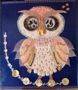 """autres animaux chouette bijoux mosaique : La Chouette """"Bling Bling"""""""