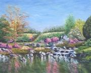 tableau paysages jardin eau : Botanica