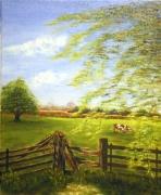 tableau paysages normandie paysage vache : Normandie