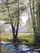 tableau paysages paysage riviere : Le long du Noireau