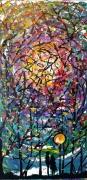 tableau abstrait couple lumiere branche mouvement : Mouvement de la couleur: Couple