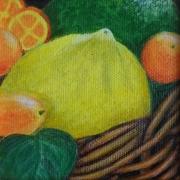 tableau fruits citron panier fruit nature morte : citron