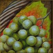 tableau fruits raisin fruit panier nature morte : raisin