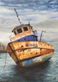 vieux bateau de pêche