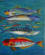 tableau animaux poissons mer : Poissons