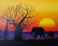 girafe et elephants