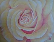 tableau fleurs rose jaune fleur : rose jaune