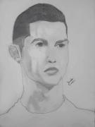 dessin personnages portrait pencil drawing cristiano ronaldo : Cristiano Ronaldo