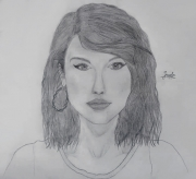 dessin personnages pencil portrait drawing : Taylor Swift