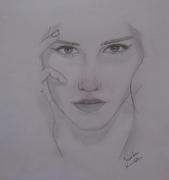 dessin personnages pencil portrait drawing : Emma Watson