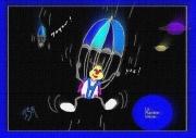 dessin beillou parachute planete bleu : beillou se lance