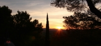 Soleil à l'horizon