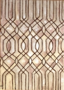 tableau lignes geometrie toile de jute camaieu beige : Motifs géométriques