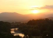 photo paysages soleil orange orb paix : soleil couchant