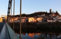 Cessenon et pont suspendu