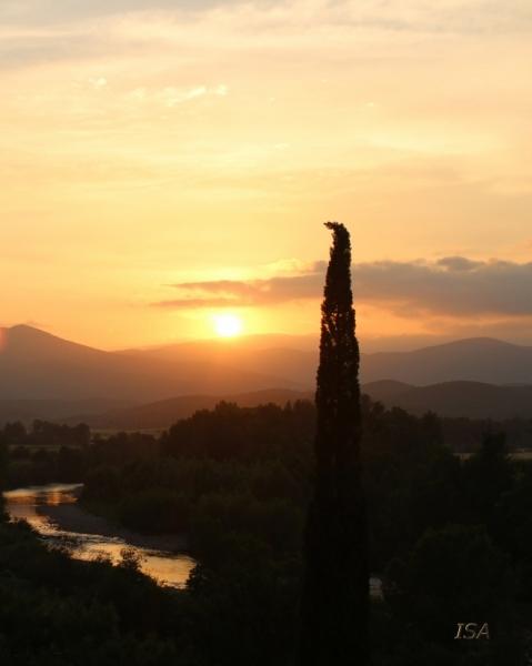 PHOTO soleil couchant paix ciel et eau douceur Paysages  - soleil couchant