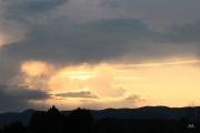 photo paysages coucher soleil orange lumiere beaute : Soleil couchant
