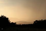 photo paysages orange vaporeux pastel orage : Vaporeux