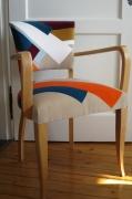 autres abstrait scandinave multicolore geometrique : Fauteuil Bridge