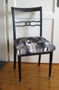 autres abstrait fourrure synthetique multicolore : Chaise Art Déco