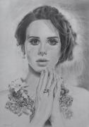 dessin autres portrait realisme realiste drawing : Lana Del Rey