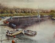 tableau marine port baie bateau payasage : marine