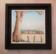 tableau paysages paysage nature village campagne : Un petit village...