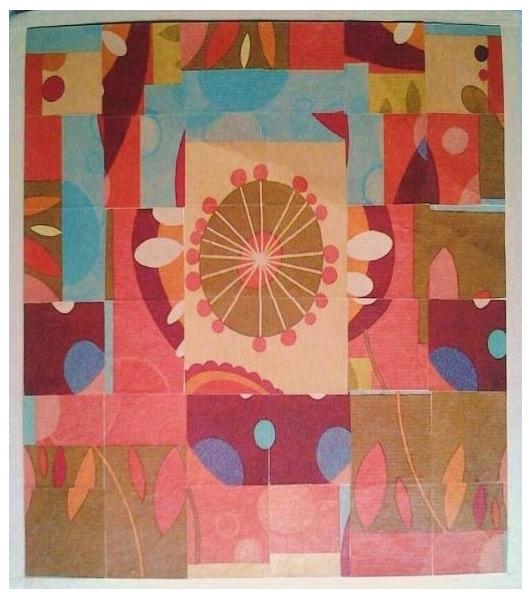 TABLEAU PEINTURE Paysages Collage  - Ciel de jardin
