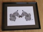 dessin animaux zebres dessin animalier dessin acrylique decoration moderne : Zèbres