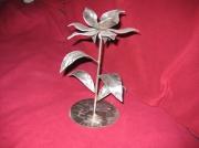 deco design fleurs fleur inox bougie : orchidée
