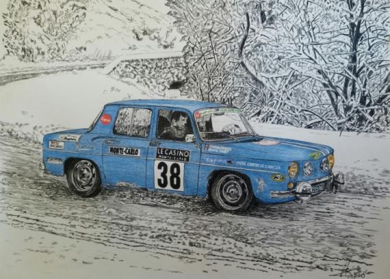 DESSIN voiture auto course R8 Sport Crayon  - R8 Gordini