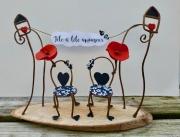 deco design autres amour chaise coquelicot couple : Tête à tête amoureux