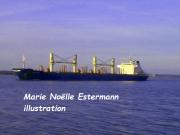 tableau marine mer bateau honfleur normandie : BATEAU VERS HONFLEUR