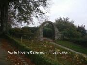art numerique paysages jardin fleuri avranches normandie : JARDIN AVRANCHES