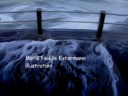 tableau marine mer vague maree haute normandie : VAGUE A HAUTEVILLE SUR MER