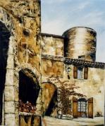 tableau architecture var tourtour village le chateau : le château