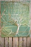 artisanat dart nature morte tapisserie tissage vegetales recyclees : Ancrage
