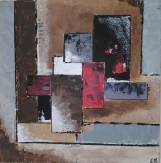 tableau abstrait abstrait geometrique force : Sans titre