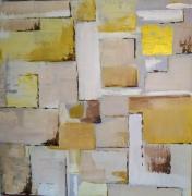 tableau abstrait abstrait lumineux bruns : Renaissance