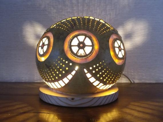 DéCO, DESIGN luminaire calebasse Abstrait  - Wheelies