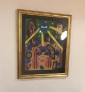 tableau abstrait mythologie egypte horus : L œil d'Horus