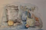 tableau nature morte chandelier vase legume : Le chandelier
