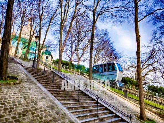 PHOTO Montmartre Sacre Coeur Paris Amour Architecture  - Montmartre Sacré Coeur Funiculaire