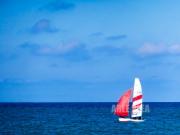 photo paysages mer normandie bateau ocean : Face A La Mer
